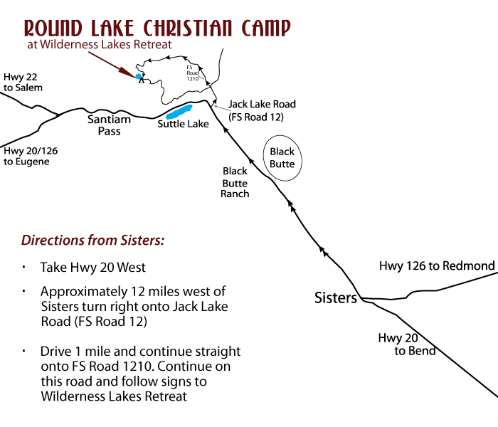 Map to Round Lake Christian Camp